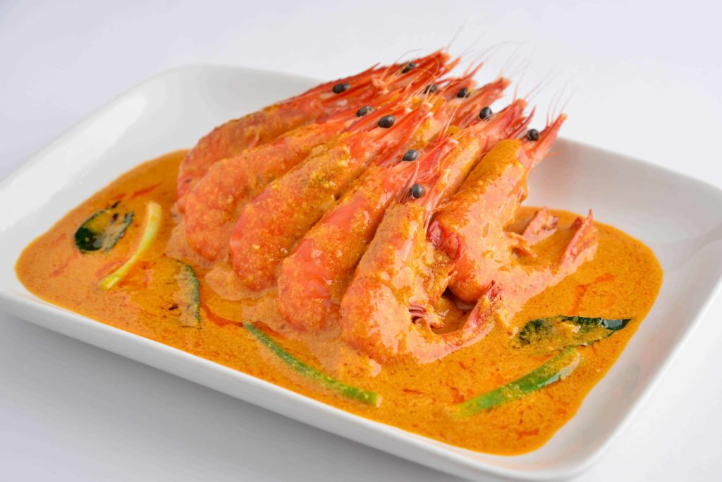 Thai Style Curry Prawns